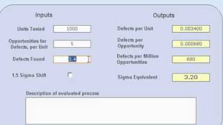 QuikSigma: Process Sigma Level Calculator