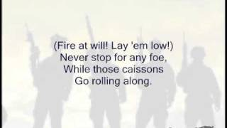 The Caisson Song (Original US Army Song) - Singalong with Lyrics