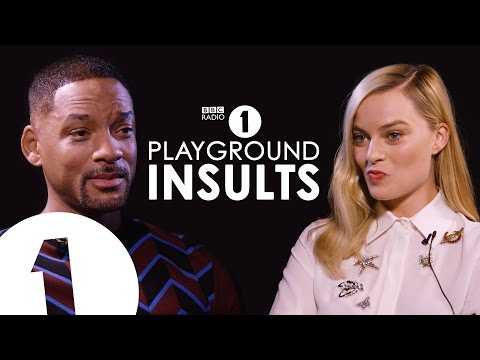 Will Smith & Margot Robbie Insult Each Other CONTAINS STRONG LANGUAGE