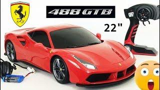 "Ferrari 488 GTB Remote Control Car Tech RC By Maisto 22"" Inch Unbxing"