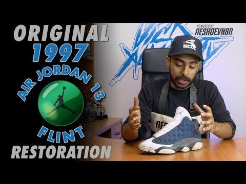 Original 1997 Air Jordan 13 Flint Restoration by Vick Almighty