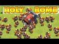 """WALL BREAKER MAXED LVL TROLL!! """"Clash Of Clans"""" HEALS AND CLONES!!"""