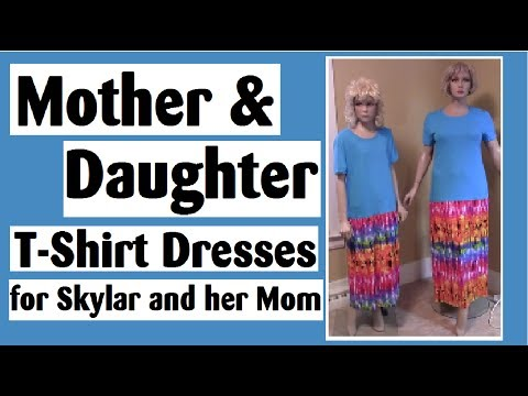 Mother Daughter Matching T-Shirt Dresses for Skylar and Her Mom