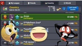 8 ball pool world leaderboard hits 50B. anas al beleh