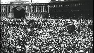 Russian Revolution during World War I. HD Stock Footage