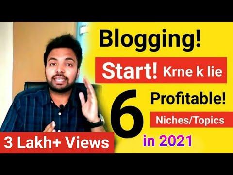 6 Profitable NichesTopics To Start Blogging In 2018 And Earn Money Online