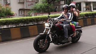 Sidharth Malhotra And Jacqueline Fernandez Riding Harley Davidson Bike On The  Streets Of Mumbai