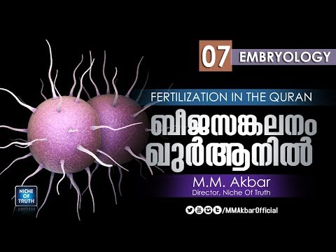ബീജസങ്കലനം ഖുർആനിൽ   Fertilization in the Quran   Embryology   Part-07   MM Akbar