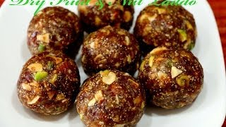 Date and Nut Laddoo - Healthy Indian Sweet Recipe.