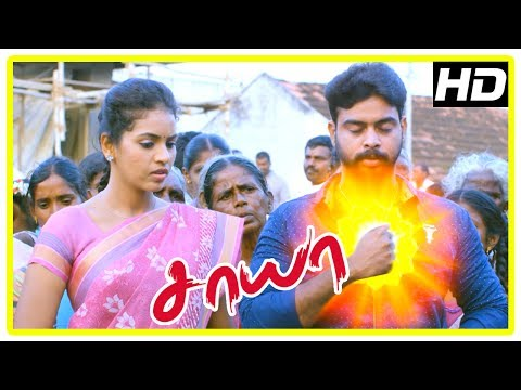 Saaya Movie Scenes | Santhosh save lovers | Dead teacher want Santosh to take over the school