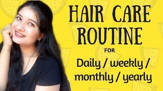 Daily/Weekly/Monthly/yearly Hair Care Routine tips | Tips for Healthy & shiny hair naturally | AVNI