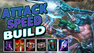 Smite: Attack Speed Poseidon Build - Have You Ever Seen A Noodle Fly This Fast?