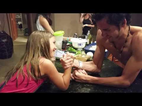 Little girl beats 18 year old boy