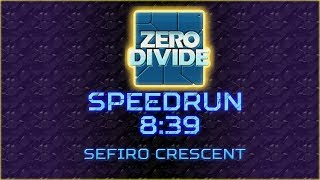 Zero Divide Speedrun - 2 Stocks Easy 8:39 (PS1 Console)