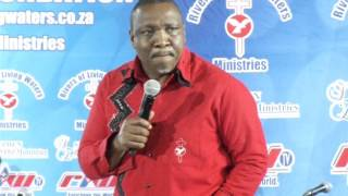 Archbishop Zondo addresses pastors and elders.