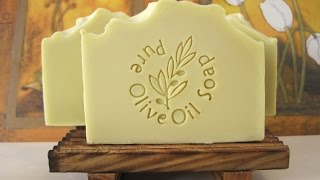 Organic Olive Oil Soap - Making, Cutting & Stamping    סבון שמן זית אורגני