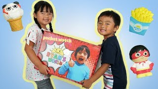 Ryan ToysReview Sent Me Free Toys | New Squishy  from Ryan