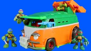 Teenage Mutant Ninja Turtles TMNT Half Shell Heroes Party Wagon With Donnie & Imaginext Disney Cars