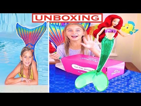 Xxx Mp4 Real Mermaid UNBOXING The New Mermaid Ariel Toys Pley Box And Mermaid Swimming In A Pool 3gp Sex