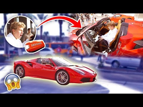 HE'S 15 YEARS OLD & BOUGHT A 350 000 FERRARI FIRST CAR