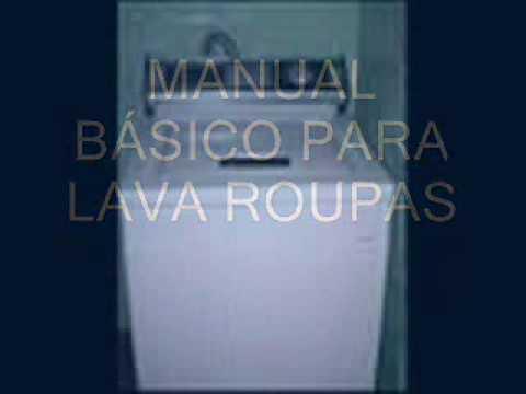 manual técnico para lava roupas