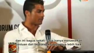 Cristiano Ronaldo Jumpa Martunis, Anak Angkatnya Di indo