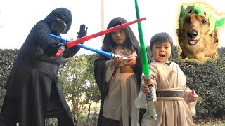 Star Wars Kids Jedi VS Kylo Ren  Light Saber given from the master