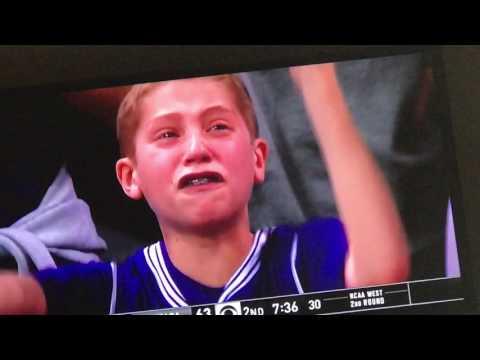 Northwestern boy crying over a flagrant foul