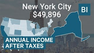 How much you take home from $75K income based on where you live