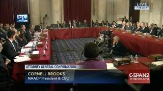 Cornell Brooks of NAACP testifies on Sessions