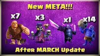 New META!! Giants+Bowler+Witch+Pekka | TH11 War Strategy #202 | After MARCH Update | COC 2018 |