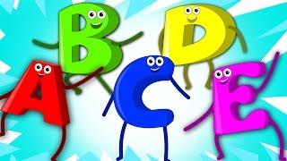 Five Little Alphabets | Nursery Rhymes | Kids Song