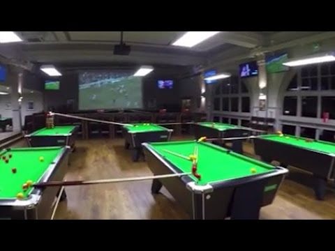 Bristol sports bar pulls off amazing trick shot – video