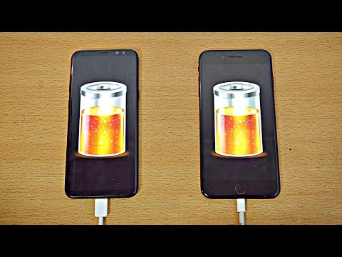 Samsung Galaxy S8 Plus vs iPhone 7 Plus Battery Drain Test 4K