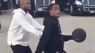 """Quavo """"Balls Up Tory Lanez In Back Of Tour Bus Gives Him Serious Buckets"""""""