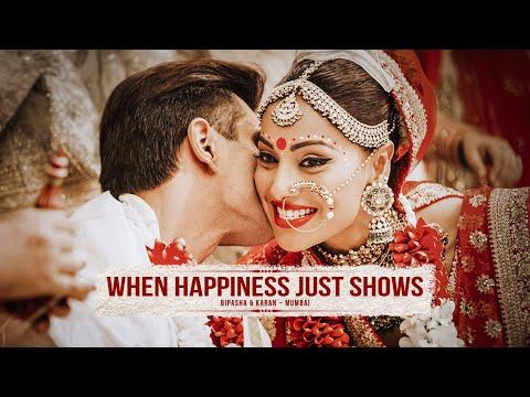Xxx Mp4 WHEN HAPPINESS JUST SHOWS Bipasha Basu Karan Grover Wedding Glimpses 3gp Sex