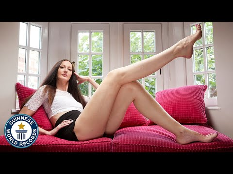 Xxx Mp4 Woman With The Longest Legs Meet The Record Breakers 3gp Sex