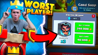 WORST PLAYER IN CLASH ROYALE HISTORY RETURNS... WITH AN ELECTRO WIZARD!