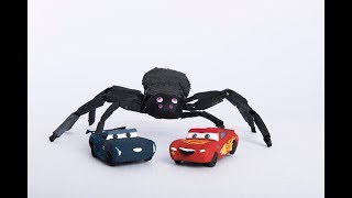 """ Spidey THE SPIDER "" Series 2 Lightning McQueen & Jackson Storm get ATTACKED"
