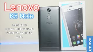 Lenovo Vibe K5 Note Unboxing (4GB), Initial Impressions, Camera Samples & OTG