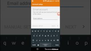 how to setup email on android phone | symphony h300