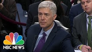 SCOTUS Nominee Neil Gorsuch Clarifies Alleged Maternity Leave Comments | NBC News