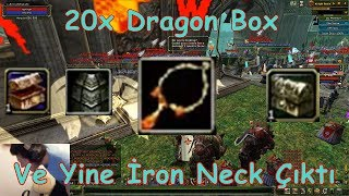 Knight Online 20x Dragon Box Ve Yine İron Necklace Geldi | 20x Özel item | Destan 2017