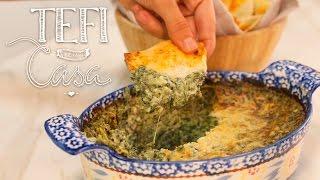 Dip de Espinaca con Puré de Ajo | Tefi en Casa