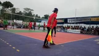 Turnamen volleyball rancah 2017. GMC cibeureum vs bojonggeudang.