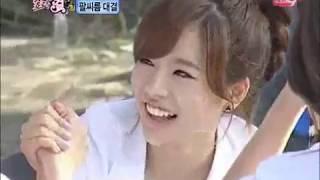 Chuseok Special Sweet Girl (korean girl group arm wrestling)