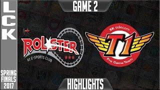 SKT T1 vs KT Rolster Highlights Game 2 - LCK Spring Finals 2017 KT vs SKT G2