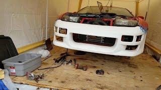 TT check up w/ Greddy Bumper Fitment & DMAX Hood Vent Install!