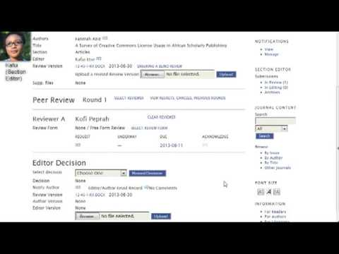 PKPSchool: OJS for Editors: Lesson 9: Assigning a Reviewer
