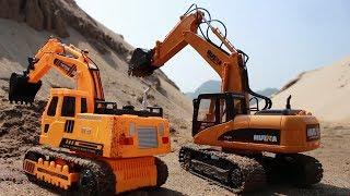 Trucks for children | Excavator videos for children | Diggers for children | Children toys